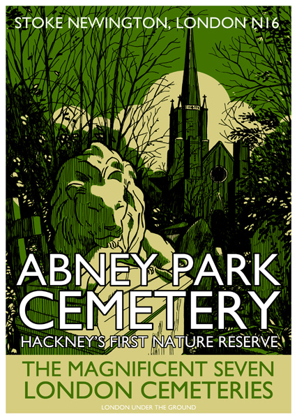 Abney Park Cemetery Screenprint