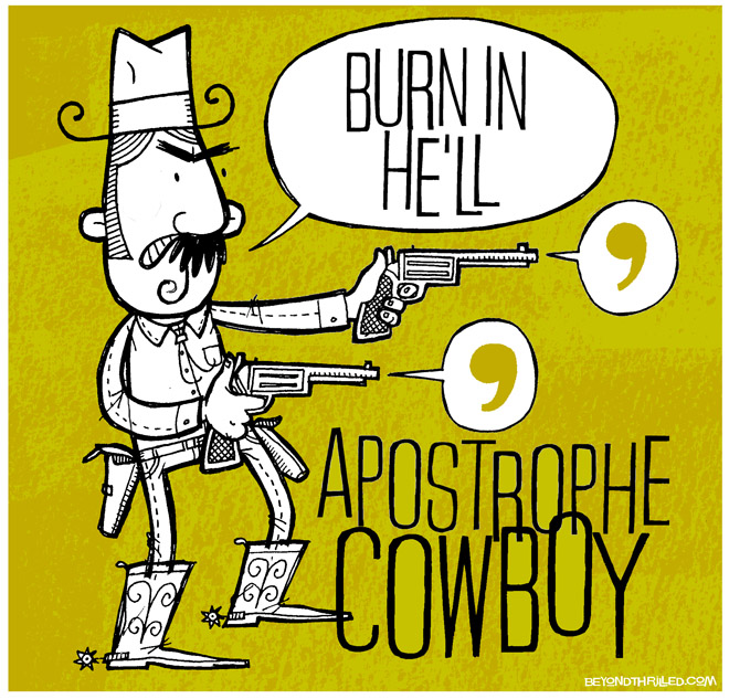 Apostrophe Cowboy - illustration