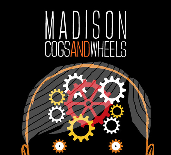 "Illustration for CD cover of Madison's debut EP ""Cogs and Wheels"""