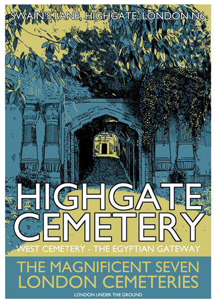 Highgate Cemetery West - Screenprint