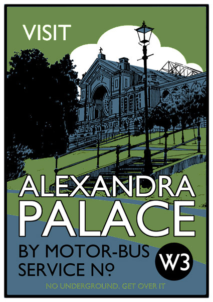 Visit Alexandra Palace - Screenprint