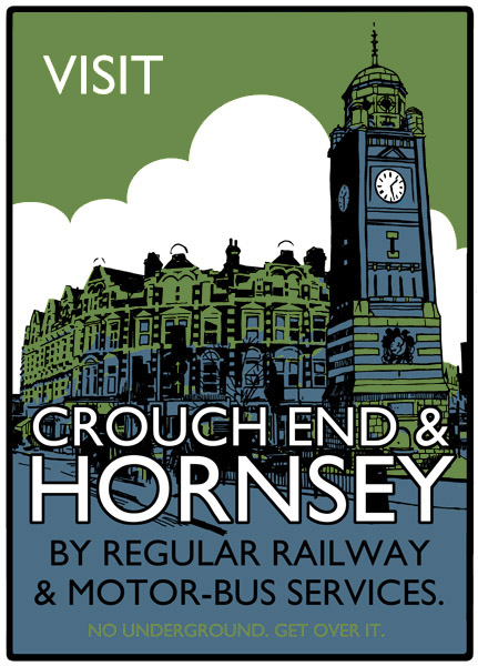 Visit Crouch End and Hornsey - Screenprint