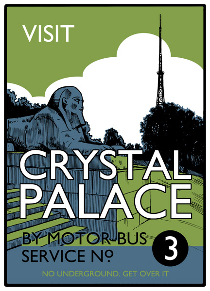 Visit Crystal Palace - Screenprint