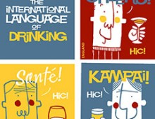 The international language of drinking – screenprint