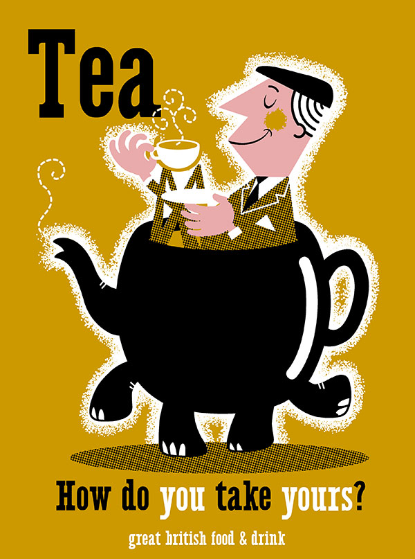 Tea - Great British Food & Drink - screenprint