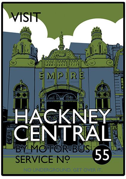 Visit Hackney Central - screenprint