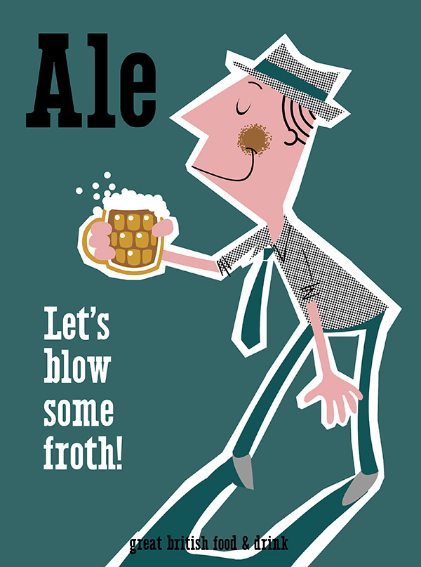 Ale - Great British Food & Drink Screenprint Poster