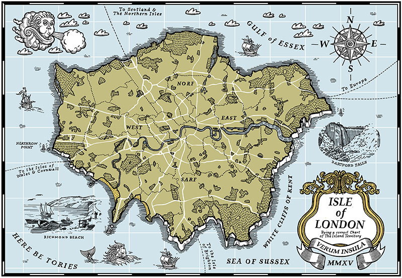 The Isle of London Map - Screenprint