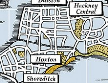"""The Isle of Hackney"" Map – Screenprint"